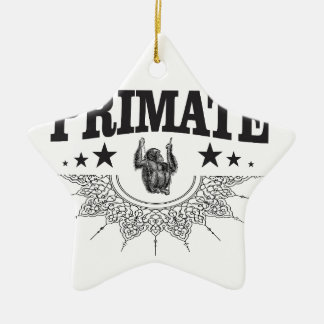 Affe in der Aufkleberkunst Keramik Ornament