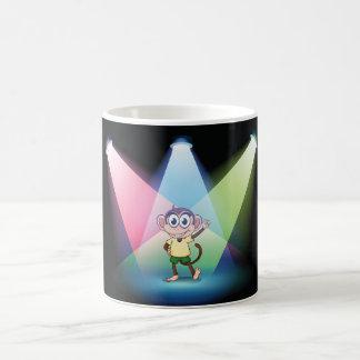 Affe in der Scheinwerfer-Tasse Tasse