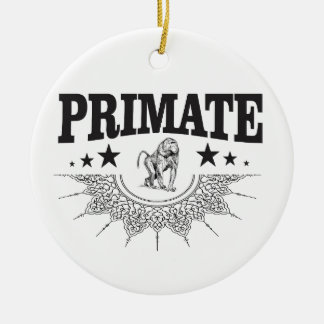 Affe in einem Aufkleber Keramik Ornament