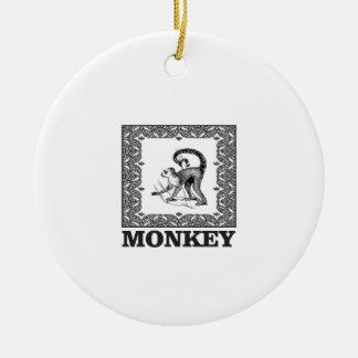 Affe in einem Kasten Keramik Ornament