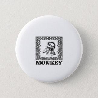 Affe in einem Kasten Runder Button 5,7 Cm