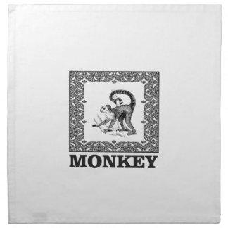 Affe in einem Kasten Stoffserviette