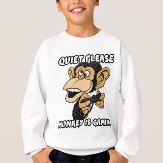 Affe ist Spiel Sweatshirt