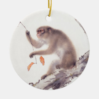 Affe-japanische Malerei-chinesischer Tierkreis Keramik Ornament