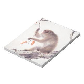 Affe-japanische Malerei - Jahr des Affen Memo Notiz Pad