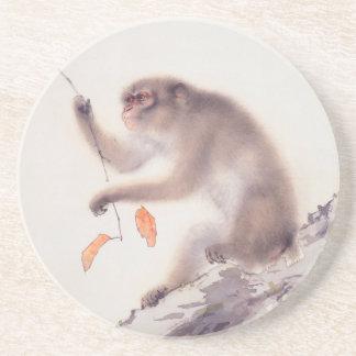 Affe-japanische Malerei - Jahr des Affen Untersetzer