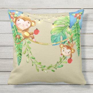 Affe-Kind Kissen Für Draußen