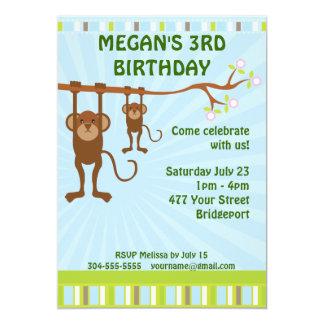 Affe-Kindergeburtstag-Party 12,7 X 17,8 Cm Einladungskarte