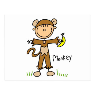 Affe kleiden oben T - Shirts und Geschenke Postkarte