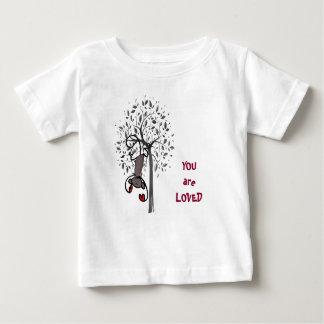 Affe-Land geliebter Baby-Geldstrafe-Jersey-T - Baby T-shirt