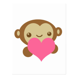 Affe-Liebe Postkarte