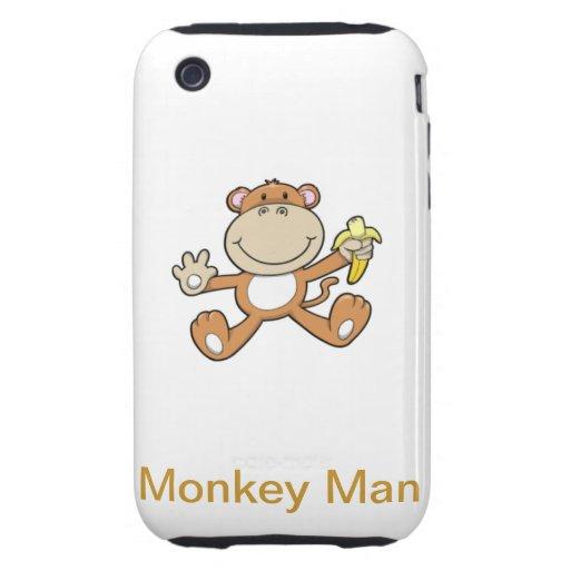 Affe-Mann iPhone 3 Tough Hüllen