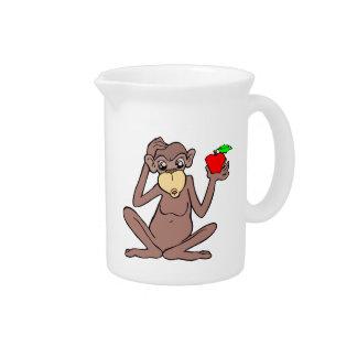 Affe mit Apple Krug