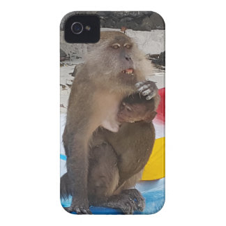 Affe-Mutter u. Baby iPhone 4 Cover