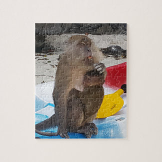 Affe-Mutter u. Baby Puzzle