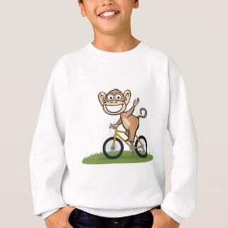 Affe-Radfahrer Sweatshirt