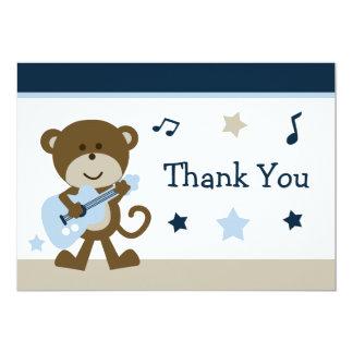 Affe Rockstar Babyparty danken Ihnen zu kardieren 12,7 X 17,8 Cm Einladungskarte
