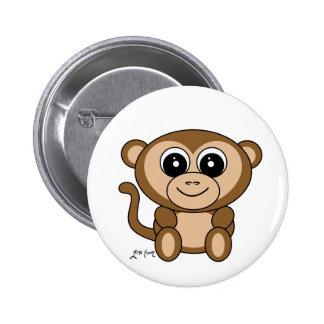 Affe Runder Button 5,7 Cm