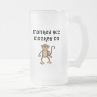 Affe sehen, Affe tun Mattglas Bierglas