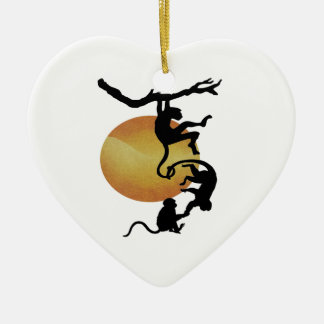 Affe sehen Affen zu tun Keramik Ornament