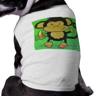 Affe-Shirt für die Hunde mittlere Top
