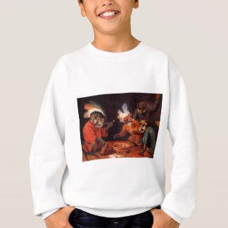 Affe-Taverne durch David Teniers das jüngere Sweatshirt