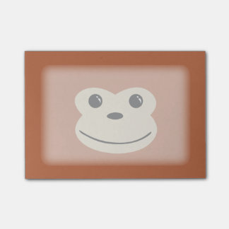 Affe-Tier-Gesichts-Entwurf Post-it Klebezettel