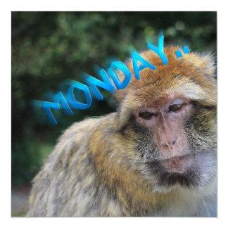 Affe traurig über Montag Karte