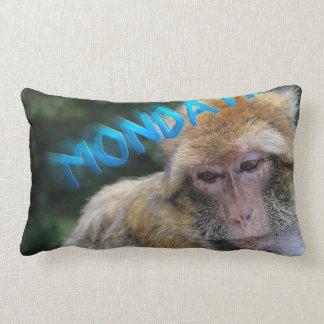 Affe traurig über Montag Lendenkissen