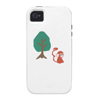 Affe und Baum iPhone 4 Cover