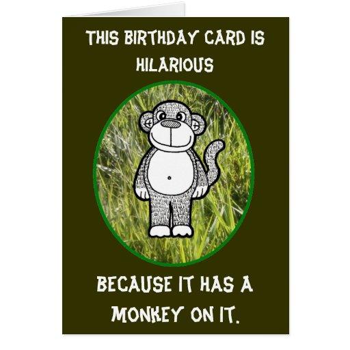 Affe-unglaublich witzig Geburtstags-Karte