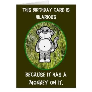 Affe-unglaublich witzig Geburtstags-Karte Grußkarte
