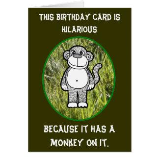 Affe-unglaublich witzig Geburtstags-Karte Karte