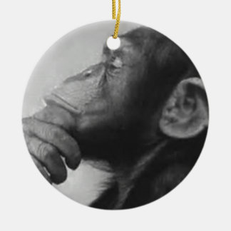 Affe-Uni Rundes Keramik Ornament