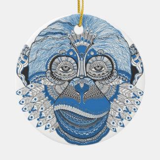 Affe - universell rundes keramik ornament