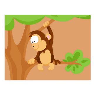 Affe von meinem Welttiere serie Postkarten