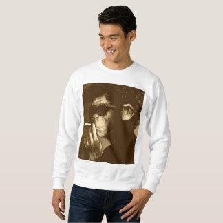 Affe-Zigaretten-Strickjacke Sweatshirt