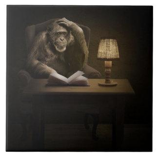 Affen-Affe-Buch Keramikfliese