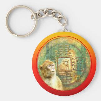 Affen des Neujahrsfest-Affe-2 in der Münze Schlüsselanhänger