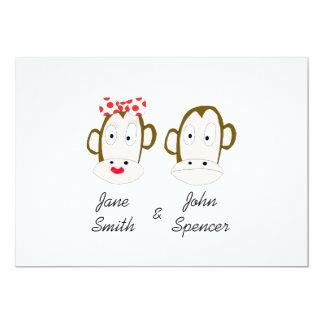 Affen, die Einladungs-Schablone Wedding sind 12,7 X 17,8 Cm Einladungskarte