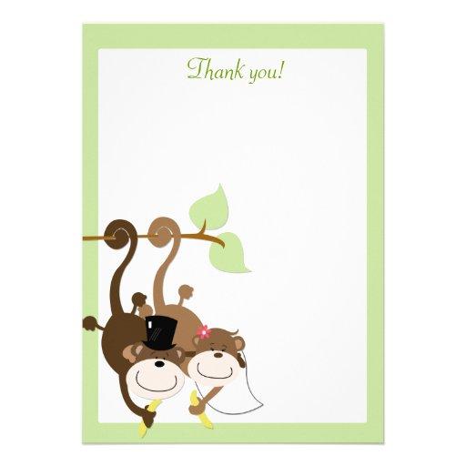 Affen in einer Baum-12x18 Ebene danken Ihnen zu Ankündigung