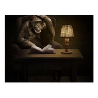 Affen-Schimpanse-Affe Postkarte