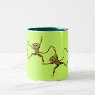 Affen Zweifarbige Tasse