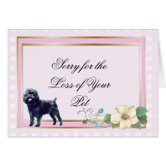 Affenpinscher auf rosa Gingham Karte