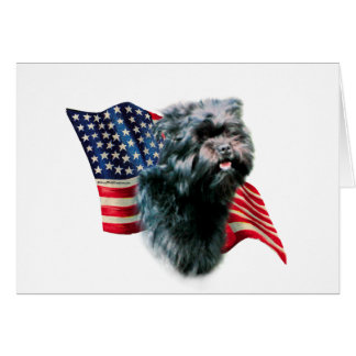 Affenpinscher-Flagge Karte