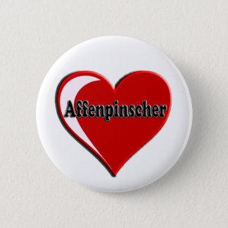 Affenpinscher-Herz Runder Button 5,7 Cm