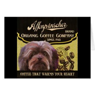 Affenpinscher-Marke - Organic Coffee Company Karte