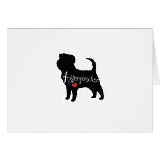 Affenpinscher mit Herz-Hundezucht-Welpen-Liebe Karte