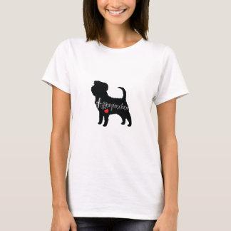 Affenpinscher mit Herz-Hundezucht-Welpen-Liebe T-Shirt