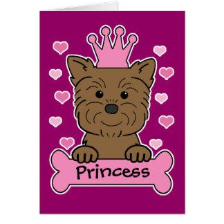 Affenpinscher-Prinzessin Karte